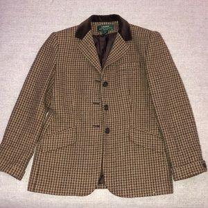 Ralph Lauren Vintage Brown Blazer Jacket size 6P